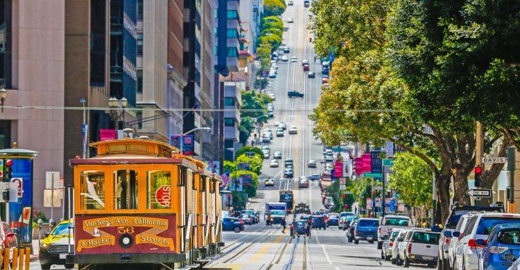 San Francisco County, Cable Car, California Street, Overhead Cable Car